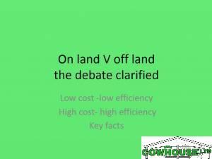 On Land V Off Land The Debate